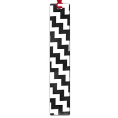 Black And White Zigzag Large Book Marks