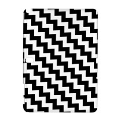 Black And White Zigzag Samsung Galaxy Note 10 1 (p600) Hardshell Case