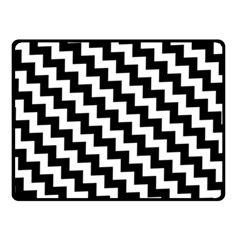Black And White Zigzag Double Sided Fleece Blanket (small)