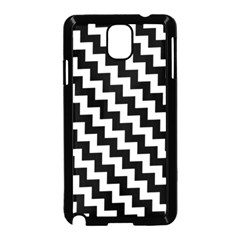 Black And White Zigzag Samsung Galaxy Note 3 Neo Hardshell Case (Black)