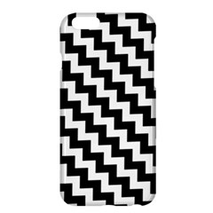 Black And White Zigzag Apple Iphone 6 Plus Hardshell Case