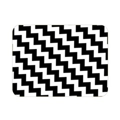Black And White Zigzag Double Sided Flano Blanket (Mini)
