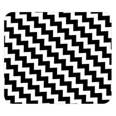 Black And White Zigzag Double Sided Flano Blanket (Small)
