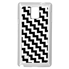 Black And White Zigzag Samsung Galaxy Note 4 Case (White)