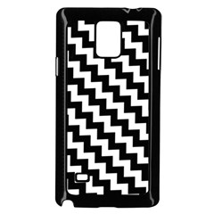 Black And White Zigzag Samsung Galaxy Note 4 Case (Black)