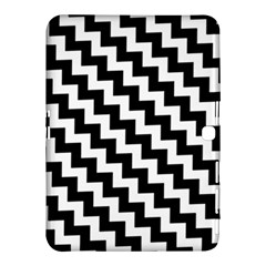 Black And White Zigzag Samsung Galaxy Tab 4 (10.1 ) Hardshell Case