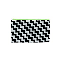 Black And White Zigzag Cosmetic Bag (XS)