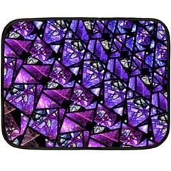 Blue Purple Shattered Glass Double Sided Fleece Blanket (mini)