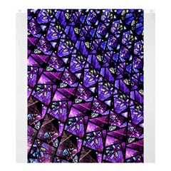 Blue purple Shattered Glass Shower Curtain 66  x 72  (Large)