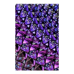 Blue Purple Shattered Glass Shower Curtain 48  X 72  (small)