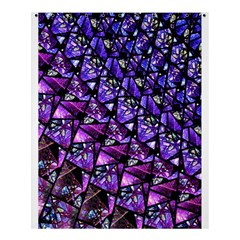 Blue purple Shattered Glass Shower Curtain 60  x 72  (Medium)