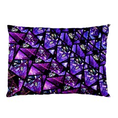 Blue Purple Shattered Glass Pillow Cases (two Sides)