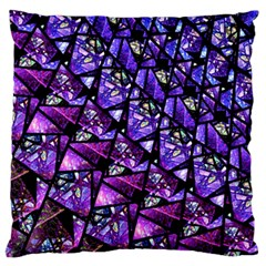 Blue purple Shattered Glass Standard Flano Cushion Cases (One Side)