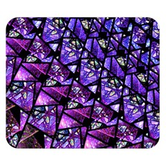 Blue purple Shattered Glass Double Sided Flano Blanket (Small)