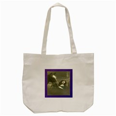 Vintage Woman With Horse Tote Bag (Cream)