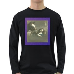 Vintage Woman With Horse Long Sleeve Dark T Shirts