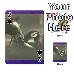 Vintage Woman With Horse Playing Cards 54 Designs