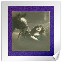 Vintage Woman With Horse Canvas 16  X 16