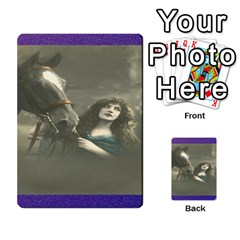 Vintage Woman With Horse Multi Purpose Cards (rectangle)
