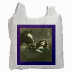 Vintage Woman With Horse Recycle Bag (one Side)