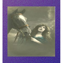 Vintage Woman With Horse Magic Photo Cubes