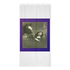 Vintage Woman With Horse Shower Curtain 36  x 72  (Stall)