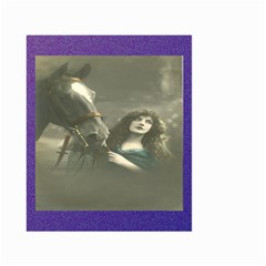 Vintage Woman With Horse Small Garden Flag (two Sides)