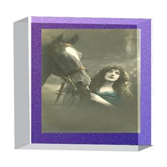 Vintage Woman With Horse 5  x 5  Acrylic Photo Blocks