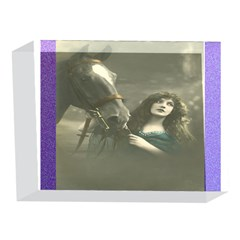 Vintage Woman With Horse 5 x 7  Acrylic Photo Blocks