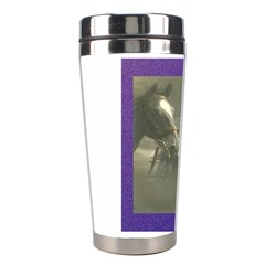Vintage Woman With Horse Stainless Steel Travel Tumblers