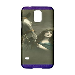 Vintage Woman With Horse Samsung Galaxy S5 Hardshell Case