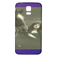Vintage Woman With Horse Samsung Galaxy S5 Back Case (white)