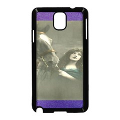 Vintage Woman With Horse Samsung Galaxy Note 3 Neo Hardshell Case (black)