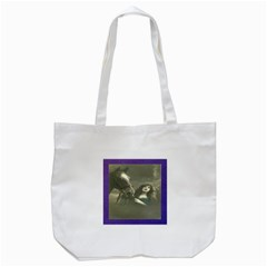 Vintage Woman With Horse Tote Bag (White)