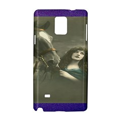 Vintage Woman With Horse Samsung Galaxy Note 4 Hardshell Case