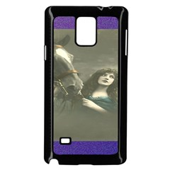Vintage Woman With Horse Samsung Galaxy Note 4 Case (Black)