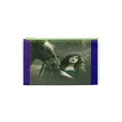 Vintage Woman With Horse Cosmetic Bag (XS)