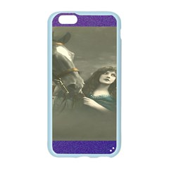 Vintage Woman With Horse Apple Seamless iPhone 6 Case (Color)