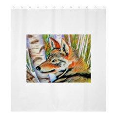 Wolfpastel Shower Curtain 66  x 72  (Large)