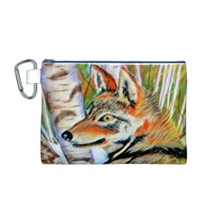 Wolfpastel Canvas Cosmetic Bag (M)