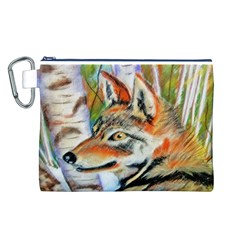 Wolfpastel Canvas Cosmetic Bag (l)