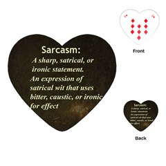 Sarcasm  Playing Cards (Heart)