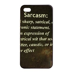 Sarcasm  Apple iPhone 4/4s Seamless Case (Black)