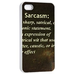 Sarcasm  Apple Iphone 4/4s Seamless Case (white)
