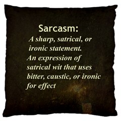Sarcasm  Standard Flano Cushion Cases (Two Sides)