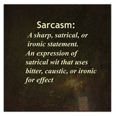 Sarcasm  Large Satin Scarf (Square)