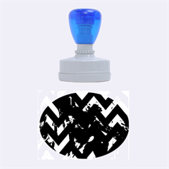 Zigzag Rubber Oval Stamps