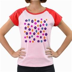 Candy Flowers Women s Cap Sleeve T-Shirt