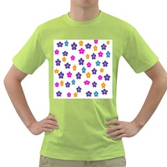 Candy Flowers Green T-Shirt
