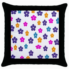 Candy Flowers Throw Pillow Cases (black)